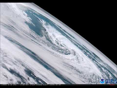 GOES-16 Limb View of a Cyclone in the north Atlantic Nov. 20