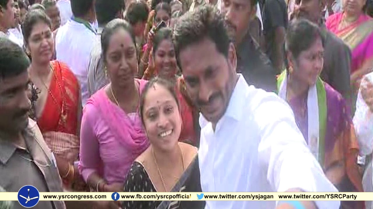 YS Jagan Prajasankalpa Yatra visuals on 263rd Day in Visakha District