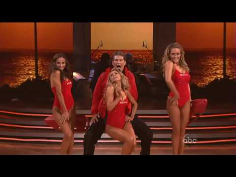 David Hasselhoff  Baywatch Theme Dancing With The Stars 2010 HD