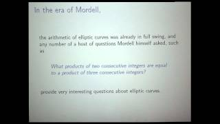 Barry Mazur - Logic, Elliptic curves, and Diophantine stability Party II