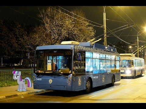 Поездка на троллейбусе ТролЗа-5265.00 Мегаполис № 1433 Маршрут № 70к Москва