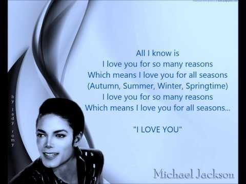 MJ ❤ I Love You For All Seasons ❤ ThisLovesO4you!!!