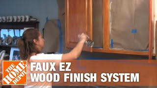 Faux Ez Wood Finish System  - The Home Depot