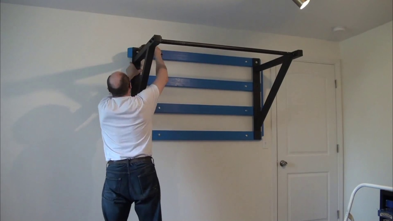 Сross Fit Chin Up Bar Wall Mounted Installation Youtube