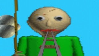This is a game called baldi cart ride in Roblox ft. Nanes - Baldi, Roblox Gameplays! (Enjoy)