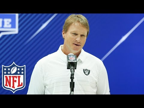 "Jon Gruden at 2018 NFL Combine, ""He will be the headliner in our offense"" 