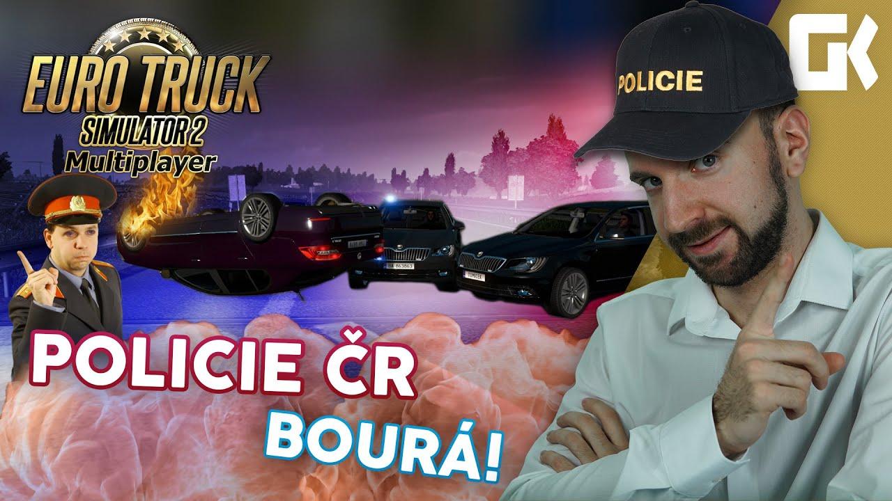 POLICIE ČR BOURÁ!   Euro Truck Simulator 2 Multiplayer Police #02