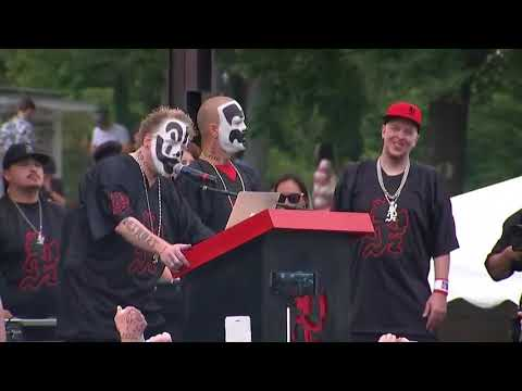 Thumbnail: Insane Clown Posse at Juggalo March allege discrimination over gang label from the FBI
