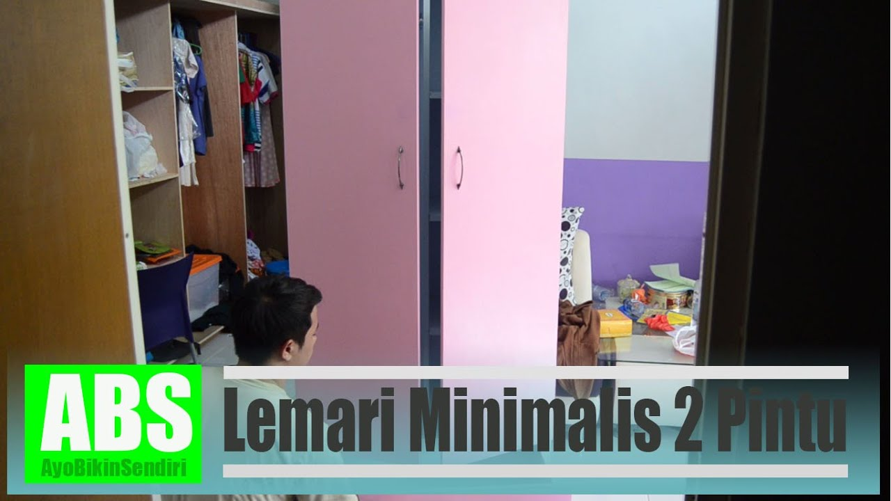 Cara Membuat Lemari minimalis 2 pintu  YouTube