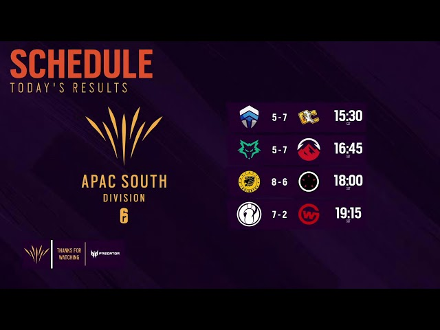 South APAC League 2021 - Stage 3 - Playday #4