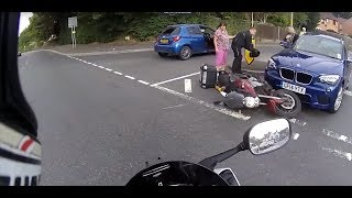 Extremely Close Calls, Road Rage, Crashes, Angry People & Scary Motorcycle Accidents [EP #112]