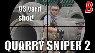 Airsoft Sniper Scope Cam - QUARRY SNIPER 2 - 93 yard shot! - Bodgeups Airsoft