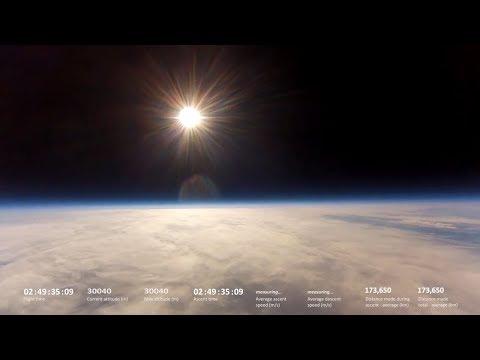 Stratospheric balloon, Łobzów near Krakówin Poland, 30 664 meters