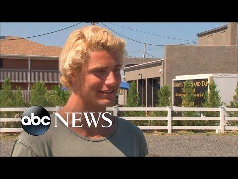 Teen Struck by Lightning CAUGHT ON VIDEO