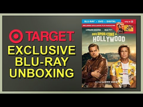 Once Upon A Time In Hollywood Target Exclusive Blu-ray Unboxing