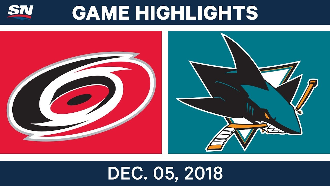 NHL Highlights | Hurricanes vs. Sharks - Dec 5, 2018