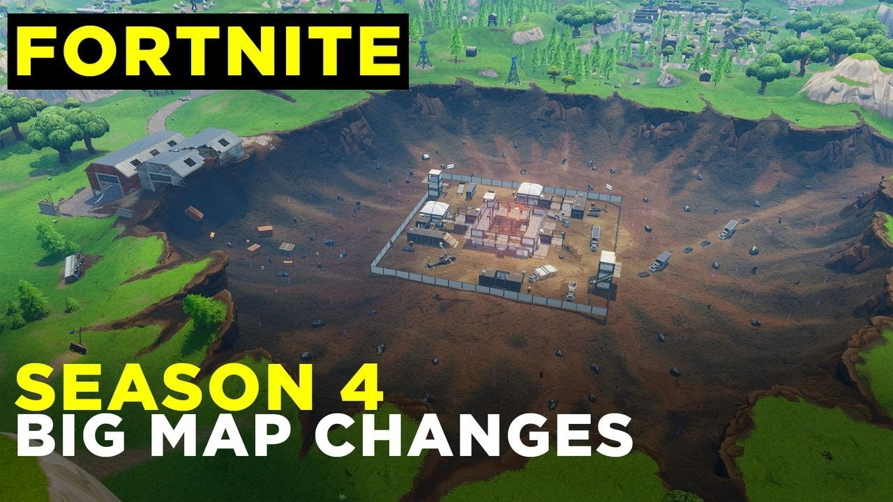 fortnite season 4 big map changes - 83 map changes fortnite