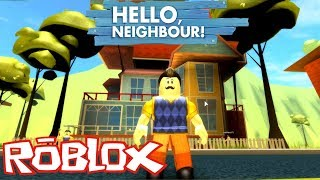 ROBLOX - We Must Escape Our Neighbour - ROBLOX HELLO NEIGHBOR