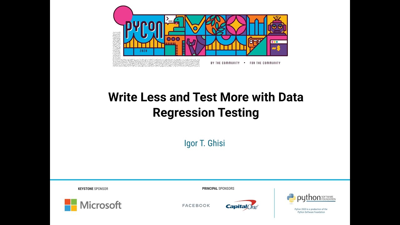 Image from Write Less and Test More with Data Regression Testing
