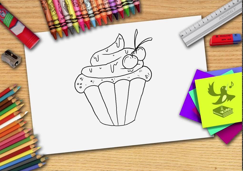 Hoe Teken Je Een Cupcake Zelf Cupcakes Leren Tekenen Youtube