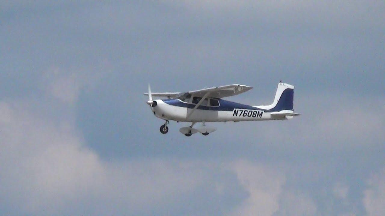Cessna 175 Takeoff from W  K  Kellogg Airport