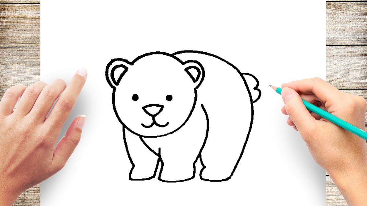 How To Cute Draw A Bear Step By