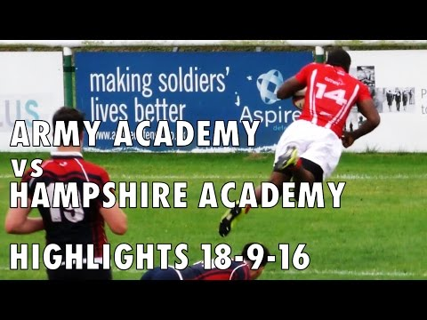 Army Academy vs Hampshire Academy Highlights 18-9-16