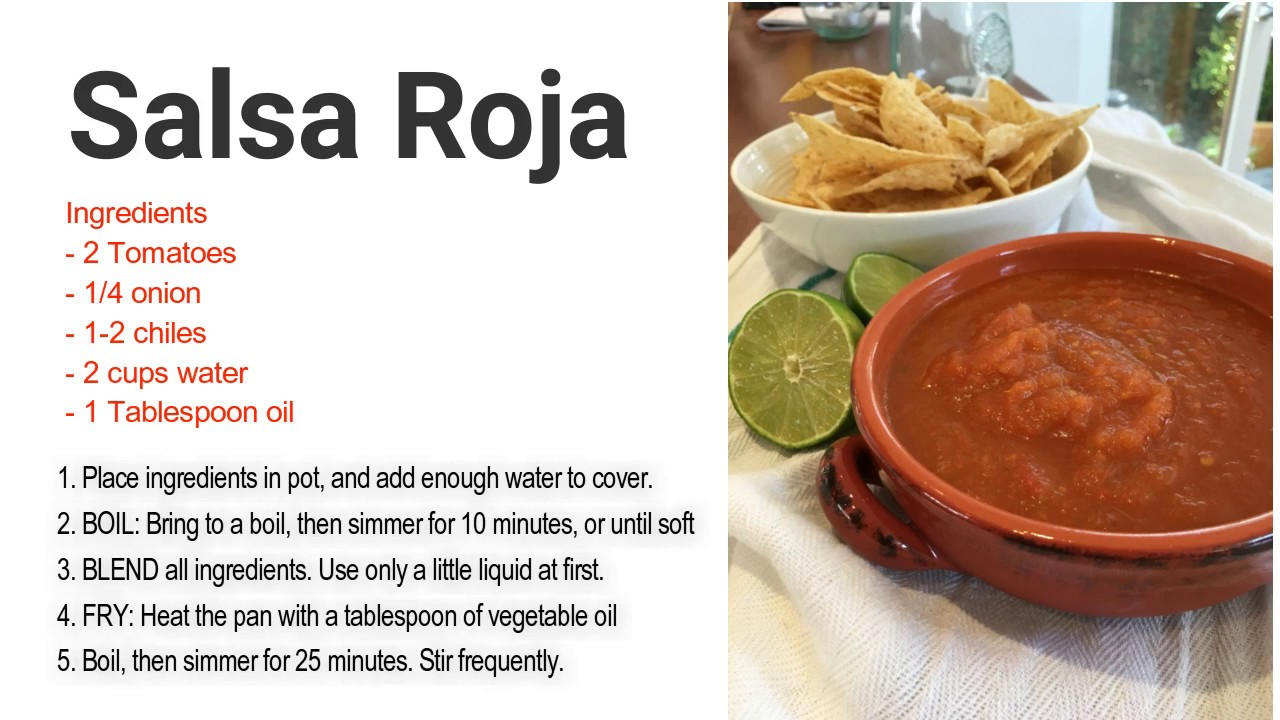 Esl food video how to make salsa roja youtube esl food video how to make salsa roja forumfinder Image collections