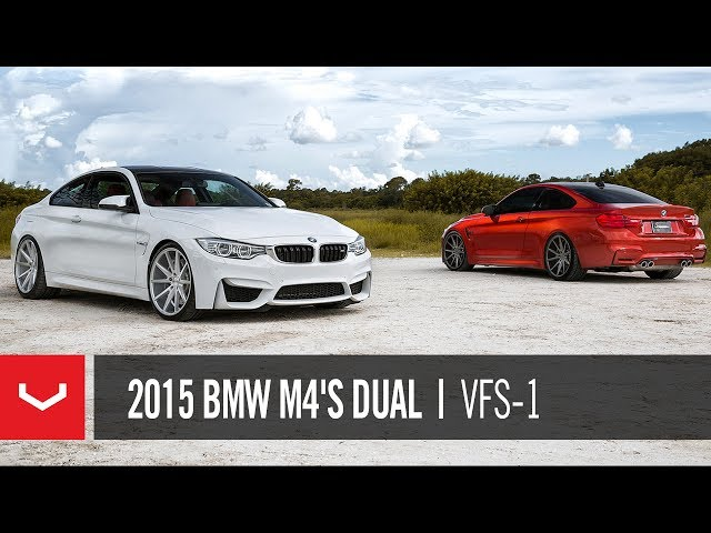 2015 BMW M4's Dual Video | Vossen VFS-1 Concave Wheels