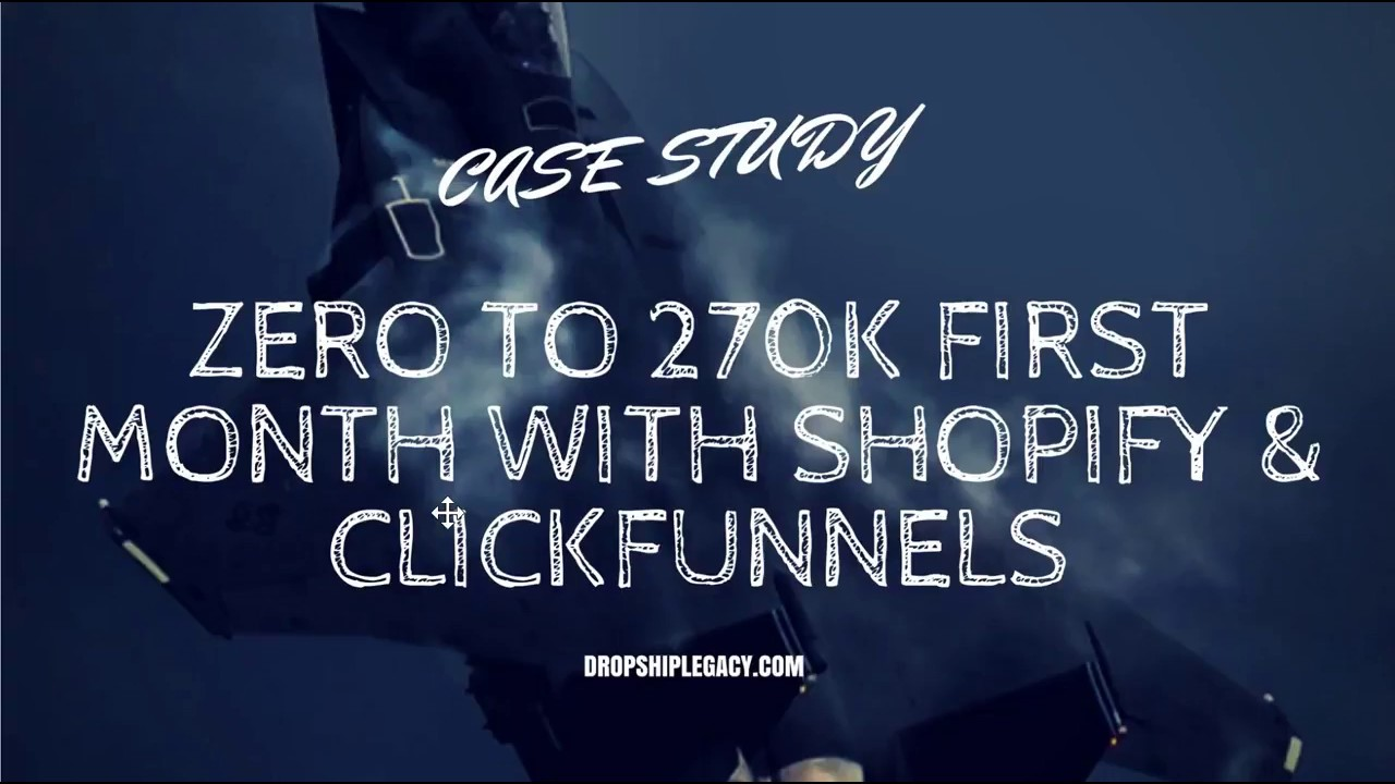Shopify & Clickfunnels Ecommerce Case Study For New Store In August 2017