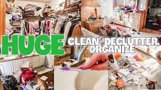 HUGE CLEAN DECLUTTER AND ORGANIZE / ULTIMATE CLEANING MARATHON / CLEAN WITH ME TRANSFORMATION