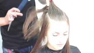 Стрижка длинных волос Haircut long hair