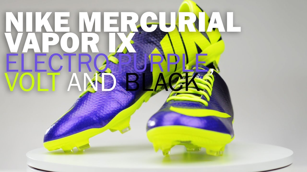 c8bfaabdb Nike Mercurial Vapor IX FG Soccer Cleats - Electro Purple with Volt Unboxing