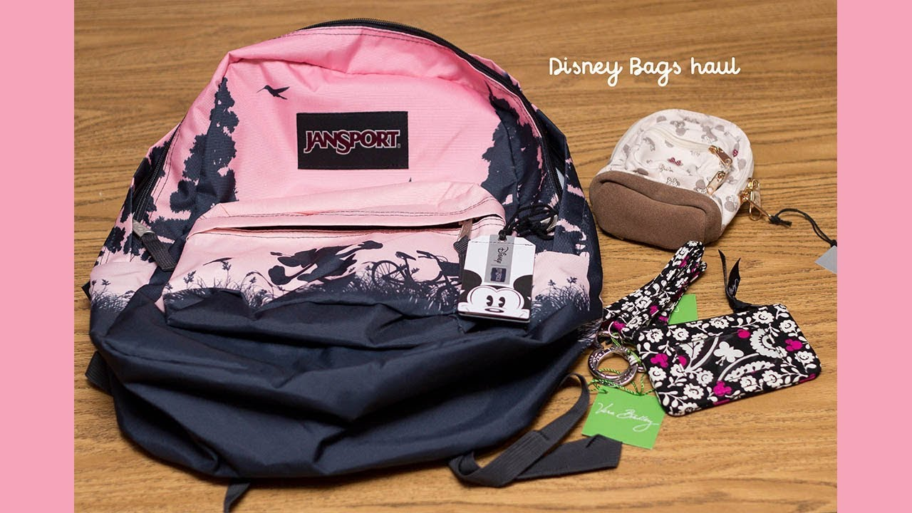 Disney Jansport bags and Vera Bradley Disney Parks Lanyard - YouTube d9814d2464903