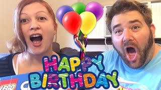 BIRTHDAY PRESENT COMPETITION! HER REACTION IS PRICELESS! FAN MAIL TOY UNBOXING GOES RIGHT!
