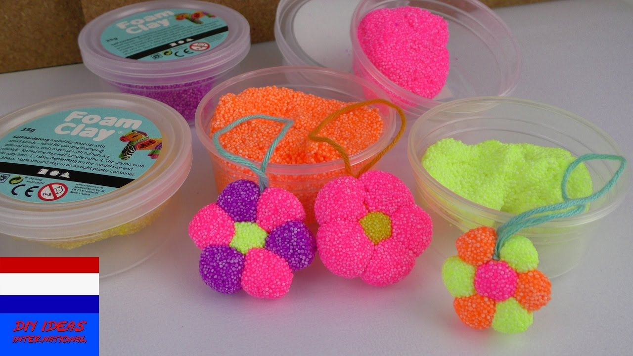 Onwijs schuimklei foam clay zelf bloem maken | DIY voor kids | zelf ED-13