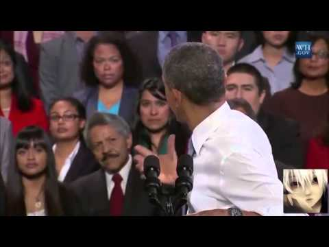 Immigrant from South Korea interrupt Obama's speech