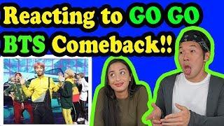 BTS -  GO GO - BTS LIVE (COMEBACK SHOW) REACTION!!!!