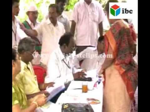 MLA usha rani distribute rashan cards to praja patham meeting