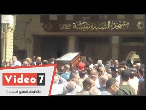 تشييع جثمان والد زوجة عبد الحكيم عبد الناصر من مسجد السيدة نفيسة