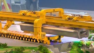 RC Crane: Bridge Building with TQ900 Through-Tunnel Bridge Erector | XXL RC Construction Site