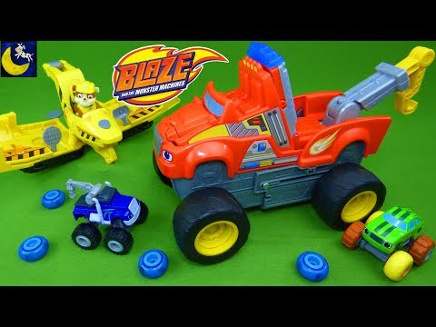 Transforming Tow Truck Blaze and the Monster Machines Toys Crusher Paw Patrol Flip and Fly Toys