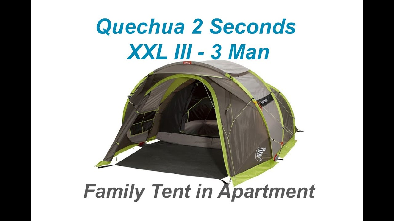 #6 Quechua 2 Seconds XXL III 3 Man Pop up Tent Decathlon Fresh Black Unboxing Timelapse  sc 1 st  YouTube : decathlon quechua tent - memphite.com