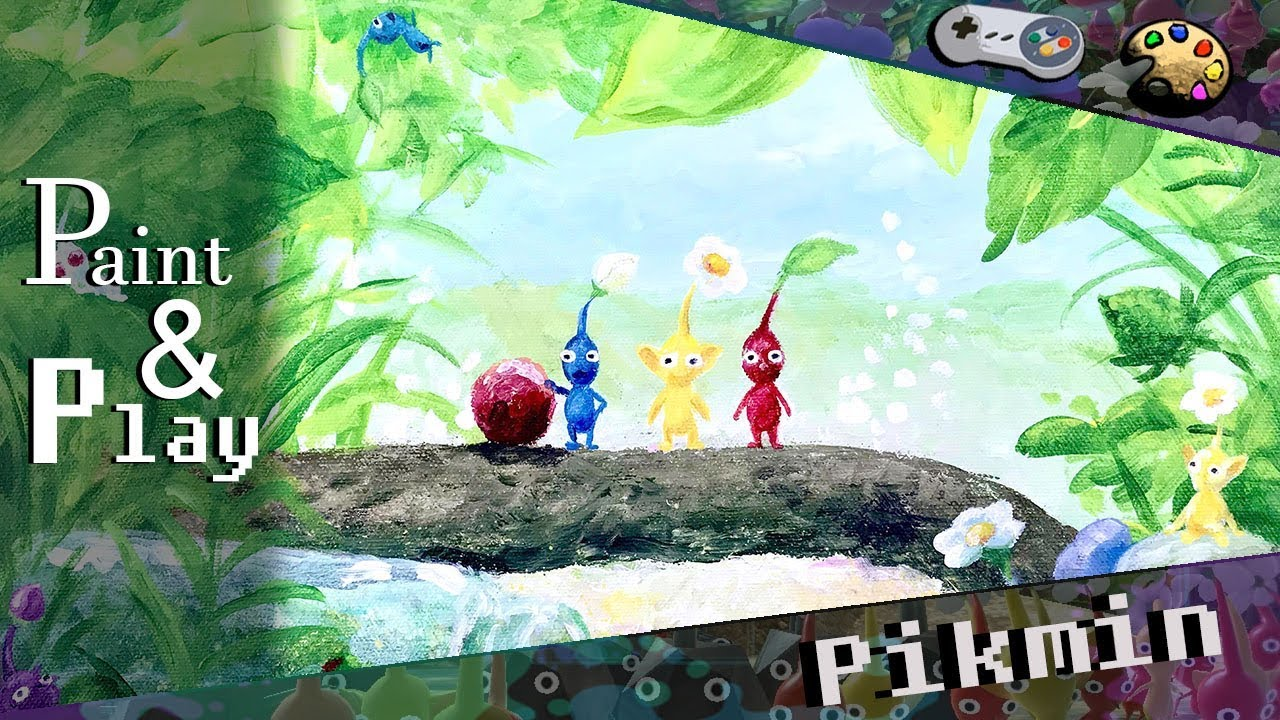 Paint Play Pikmin 3 Box Art Youtube