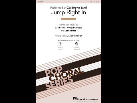Jump Right In (TTB) - Arranged by Alan Billingsley