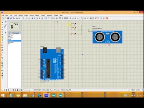 How to simulate ultrasonic sensor in proteus with arduino