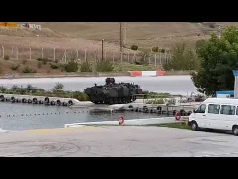 Turkish Armored Fighting Vehicle and Armored Amphibious Assault Bridge Demo Show