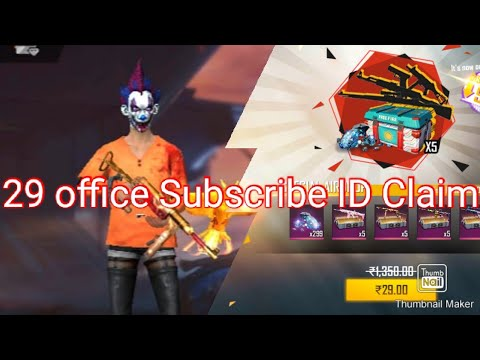 29 Office Subscribe ID Claim|Free fire|Tamil Channel YT ...