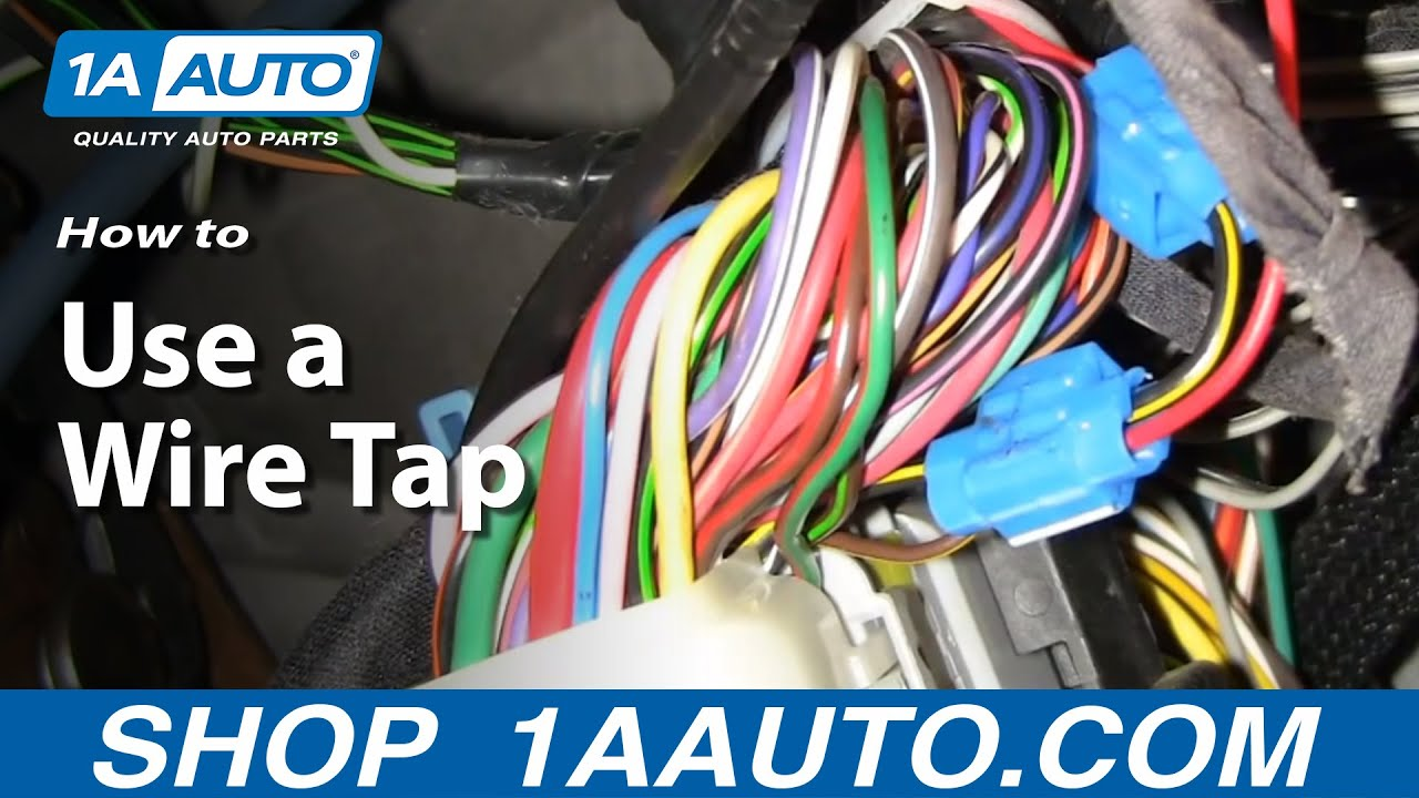Automotive How To Use A Wire Tap Connect Accessories Wiring Trailer Diagram Harness 1aautocom
