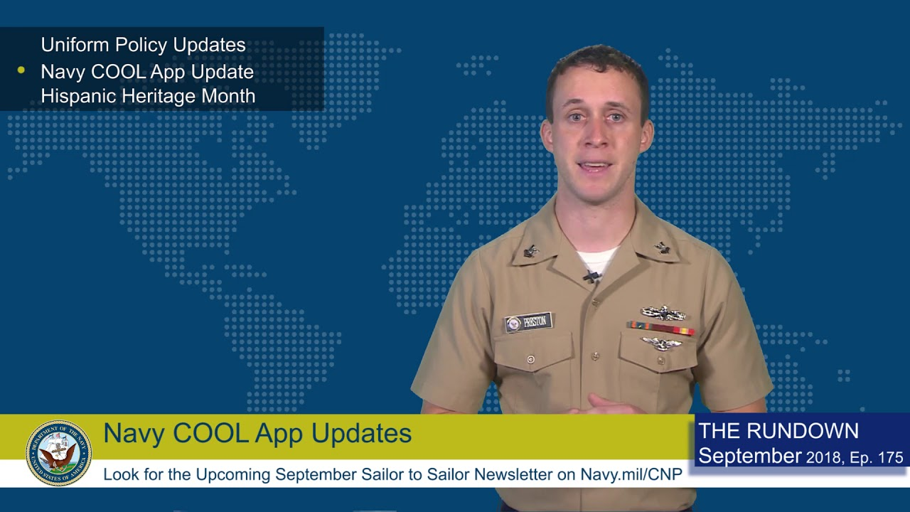 weekly wire rundown uniform navadmin navy cool app update and